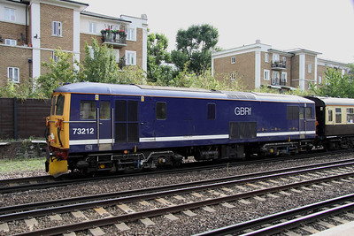 4 September. 73212 was the tail loco on The Portsmouth Belle at Kensington Olympia.