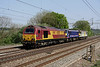 25 April. Bank Holiday Monday sees a colourful cavalcade at Chelmscote as 67025 Western Star + 90021 + 92041 Vaughan Williams head north as the 0Z23 Wembley - Crewe IEMD.