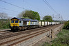 25 April. Fastline liveried 66301 heads the 4M71 1053 Tilbury - Daventry sugar train for Tate & Lyle past Chelmscote.