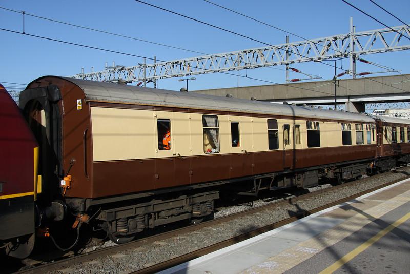 9 April. Mark 1 VSOE support vehicle 99545 at Milton Keynes.
