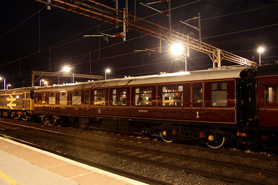 13 August. Former Mark 1 vehicle 5067, but now LMS Club Car 99993 at Northampton.