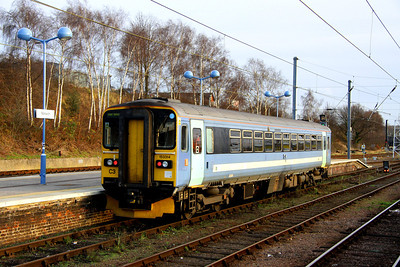 28 December. Carrying ONE unbranded livery, 153314 departs Norwich for Great Yarmouth. This one car vehicle formerly carried Norfolk and Norwich Festival advertising livery and was named DELIA SMITH