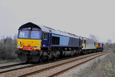 25 February. Tailing loco was 66401  which will also eventually be Europorte liveried and be renumbered to 66733.