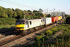 2 July. It is 0636 as 90048 is seen passing Old Linslade with the previous night's 4L89 2200 Coatbridge - Felixstowe.