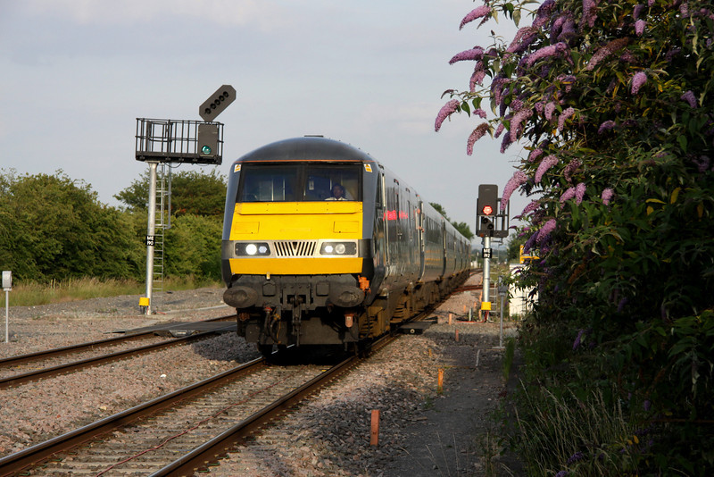 1 July. Former WSMR operated DVT 82305 at Bicester North atop the 1830 Marylebone - Birmingham Moor Street.