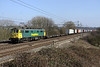 4 March. Regeared 86501 the former 86608 passes Chelmscote with the 4M81 0730 Felixstowe - Ditton.