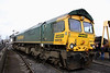 12 March. 66619 Derek W..Johnson MBE stands on display at Crewe Heritage Centre.