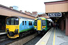 5 November. Old and new at Birmingham Moor Street. 150018 working the 1328 Dorridge - Stourbridge Junction and 172212 entrusted with the 1246 Worcester Shrub Hill - Whitlocks End.