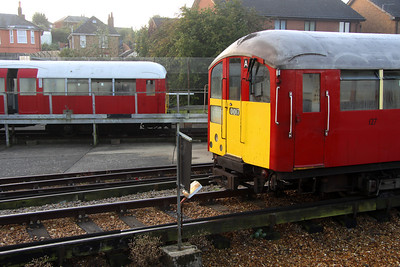 16 October. 483007 awaits the call to service whilst 483002 RAPTOR looks on from behind at Ryde depot.