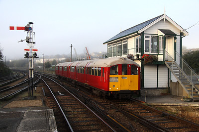 16 October. With a hint of early morning sun catching her front end and cab, 483009 passes Ryde signalbox working the 0818 Shanklin - Ryde Pier Head