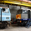 3 April. Sharing and recollecting WCML memories, 86217 and 87023 Velocity at Long Marston.
