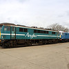 3 April. Ex Anglia 86234 and electric  blue 86233 stand together at Long Marston. 86234 was withdrawn in April 2004 whilst 86233 lasted until October 2003.