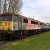 3 April. Former West coast regular 86229 heads a line up comprising 86247 + 86228 + 20016 + 20057 at Long Marston.