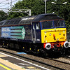 10 August. Looking smart from her recent overhaul at Eastleigh, former XP64 liveried 47853 RAIL EXPRESS passes Wolverton working the 0Z47 1030 Crewe Gresty Bridge - Stowmarket. She carried on to Norwich instead of Stowmarket as she was required to work the Yarmouth loco hauled duty the following day.