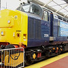 18 August. Ex Inverness large logo favourite 37261 the former Caithness, stands on display to the public at Gresty Bridge open day.