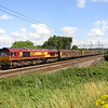 14 August. 6B41 is usually entrusted to a 92 but can throw up a 66 or a 90. The 1143 Wembley - Daventry is seen running nearly two hours late passing Chelmscote with 66171 in charge.