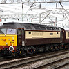 18 August. Recently released from a trip to Eastleigh Works, 47832 Solway Princess tails the Northern Belle at Crewe.