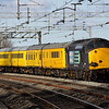 19 February. With 37601 Class 37 'Fifty' leading furthest from camera, 37059 is seen on the rear of the 1Z19 1217 Hither Green - Derby test train at Wolverton.