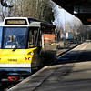 11 February. Parry People Mover, 139002 prepares to leave Stourbridge Junction with the 1449 to Stourbridge Town. The journey takes all of three minutes.