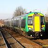 11 February. 172341 enters Stourbridge Junction atop the 1409 Dorridge - Kidderminster.