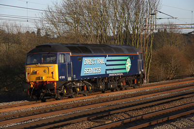 13 January. Having deposited DVT 82133 at Wolverton, 47818 heads back south at Chelmscote working the 0Z48 1453 Wolverton Works - Stowmarket.