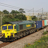 26 July. Closely following TORNADO, 66504 passes Old Linslade with the 4L41 0604 Crewe Basford Hall - Felixstowe.