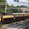 21 July. Having deposited her passengers at Milton Keynes, 47790 is seen heading back north heading for Birmingham International at Castlethorpe.