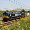 26 July. A different view of 4M71 as 66430 passes Old Linslade with the 1054 Purfleet - Daventry.