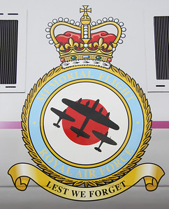 2 June. The Battle of Britain Memorial Flight insignia as applied to 91110.