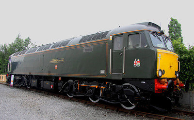 2 June. Great Western celebrity 57604 PENDENNIS CASTLE was another loco not ideally positioned for photography. This was the best I could do before she returned to sleeper duties in the West of England.