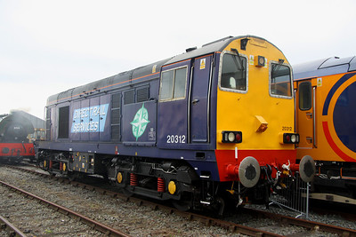 2 June. DRS supplied 20312 for the show as this loco is the oldest locomotive in the UK still operating on the main line. She was the former 20042 and was taken into traffic in November 1959.