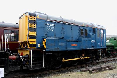 2 June. Resident NRM shunter 08911 MATEY.
