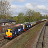 5 May. Classic traction, a signalbox, semaphores and sun, what more could you want as 20312 + 20308 slow for the stop at Banbury with the Hampshire Hotchpotch, the 1Z61 0623 Crewe - Eastleigh Works.