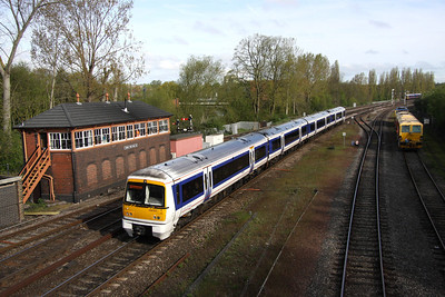 5 May. 168002 arrives into Banbury on a working to the capital at 0837.
