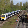 5 May. Clubman 168106 approaches Banbury working a service to London from Birmmingham Snow Hill.
