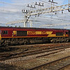 20 October. 66095, which was my last EWS 66 for sight, tails the 'Ferry Go Round away from Crewe.