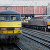 20 October. Just like the old days with loco hauled trains at Crewe as 90047 prepares to head south on the 1T95 0756 Liverpool Lime Street - Euston utilising the Pretendolino WB64 set whilst WCRC 47826 awaits departure time with the 'Lochs & Glens Statesman', the 1Z31 0642 Rugby - Pitlochry - Inverness.