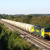 7 September. Fugly 70014 heads down the incline at Radwell working the 6L87 1237 Earles Sidings - West Thurrock cement.