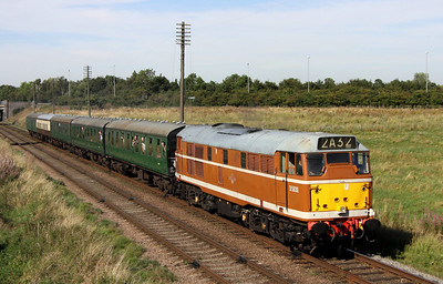8 September. The distinctive D5830 passes Woodthorpe working towards Quorn on the 2A32 1505 Loughborough - Leicester North.