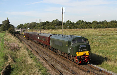 8 September. Class 45, D123 glides past Woodthorpe working the 2A36 1545 from Loughborough to Leicester North.