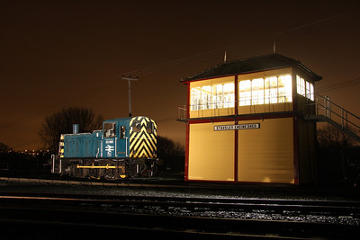 6 Dec. 03066 is posed by the illuminated box at Barrow Hill.