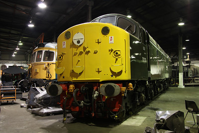 6 Dec. With the use of a wide angle lens a shot of D213 ANDANIA is captured inside the roundhouse.
