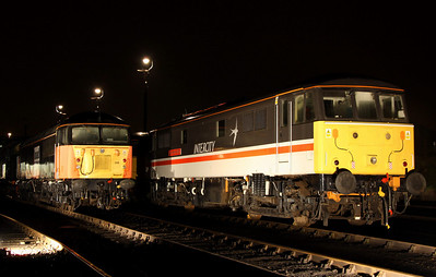 6 Dec. 56098 sits alongside 86213 Lancashire Witch. The AL6 was originally named on 13 March 1981 at Burnley.