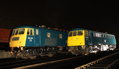 6 Dec. Owned by the NRM and the AC Loco Group respectively, 84001 poses alongside 85006.