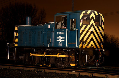 6 Dec. The duminutive 03066 which was withdrawn in January 1998 and last worked off Gateshead Depot.