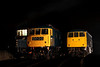 6 Dec. With 03066 partially visible behind, 84001 + 85006, the sole surviving members of their respective classes stand at the far end of the yard.