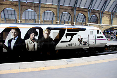 16 February. Images of the five main characters are carried on both 82231 and 91007. The image of Bond is taken from the sleeve of the DVD, released on 18 February. The opposite side of both the DVT and loco carry just a differing image of Bond which is taken from the sleeve of the blue ray DVD.