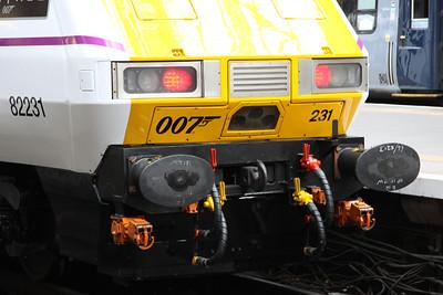 16 February. End detail of DVT 82231 at Kings Cross. 82231 was the last built of the Mark 4 DVT's.