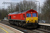 8 February. One of only four DBS liveried 66's, 66101 runs through Wolverton light engine as the 0Z27 Bescot - Wembley.