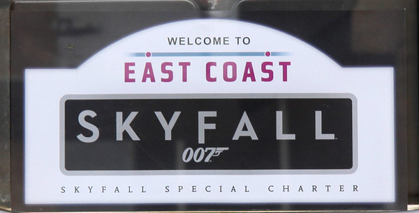 16 February. SKYFALL destination labels as applied to all passenger doors.